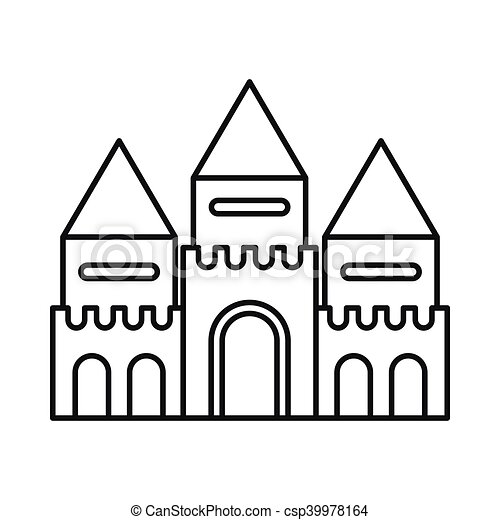 fairy tale castle icon outline style fairy tale castle clip art rh canstockphoto com
