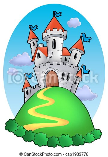 Fairy tale castle with clouds - csp1933776