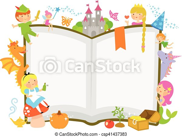 fairy tale characters characters of fairy tales around an vector rh canstockphoto co uk Vintage Fairy Tale Clip Art fairy tale characters clipart