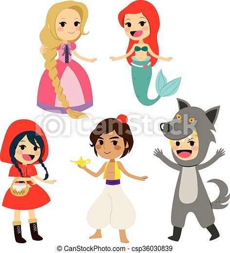 Fairy Tale Set Characters