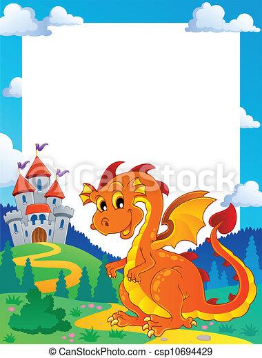 Fairy tale theme frame 3 - csp10694429