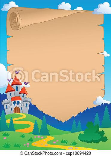 Fairy tale theme parchment 4 - csp10694420