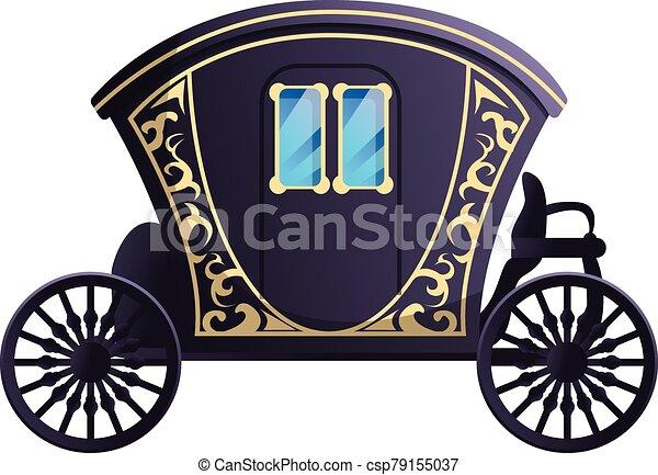 Fairytale carriage icon, cartoon style - csp79155037