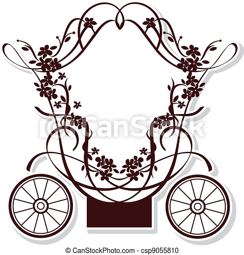 Birthday or wedding invitation design with fairytale vector fairytale carriage csp9055810 stopboris Images