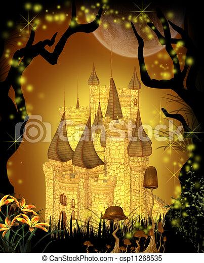 Fairytale Castle - csp11268535