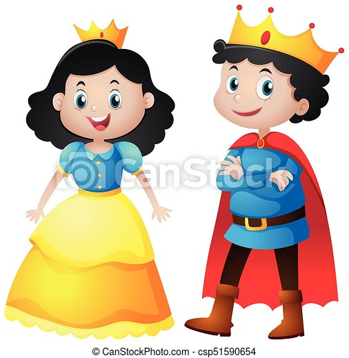 fairytale characters of king and queen illustration clipart vector rh canstockphoto com fairy tale characters clipart Fairy Tale Clip Art Hat