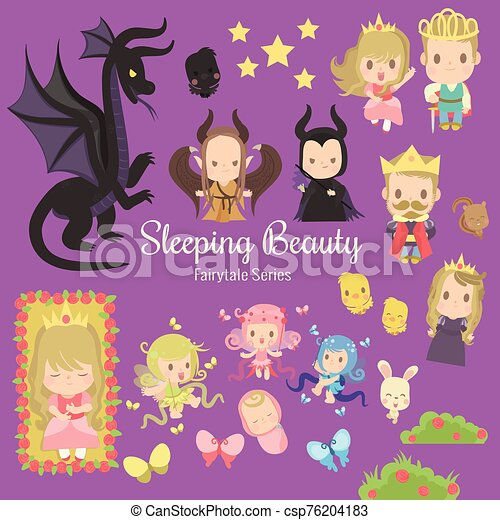 fairytale, sueño, belleza, serie - csp76204183