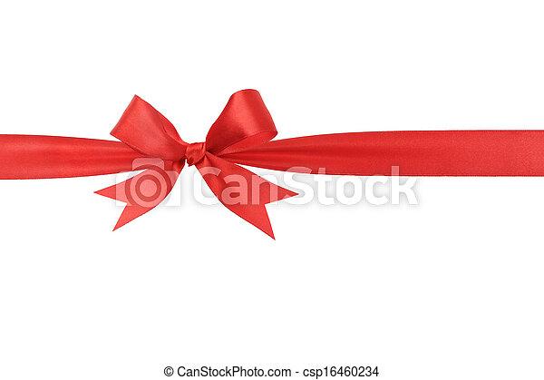 fait main, arc, rouges, horizontal, frontière, ruban - csp16460234