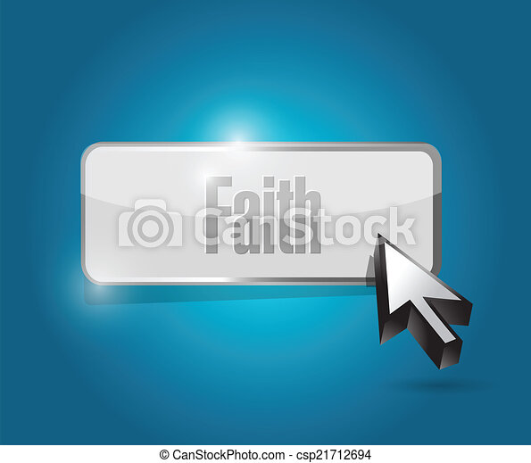 faith button illustration design - csp21712694