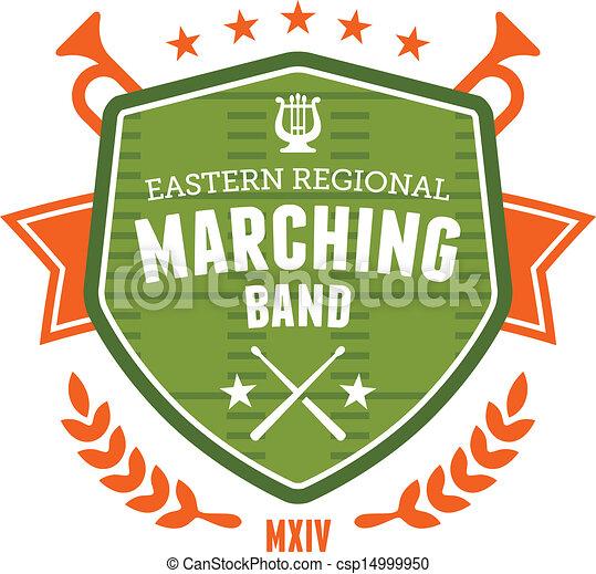 faixa, emblema, marchar - csp14999950