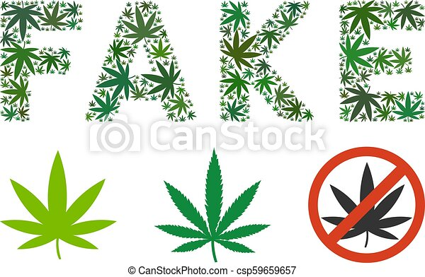 Fake Caption Composition Of Weed Leaves Fake Text Collage Of Hemp