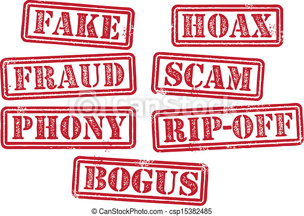 Fake Fraud Scam Stamps - csp15382485