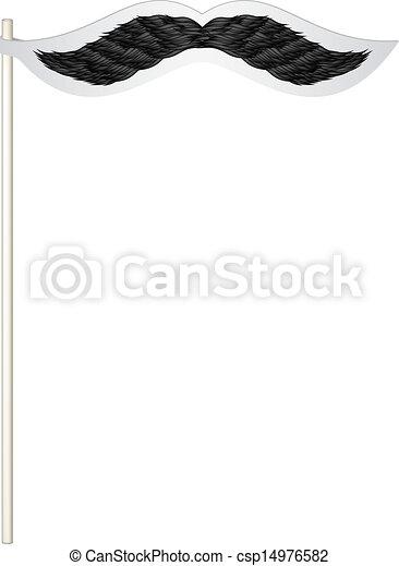 Fake mustache - csp14976582
