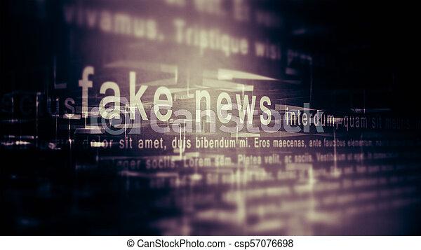 Fake news background - csp57076698