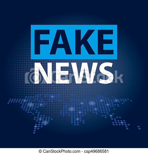Fake news headline in blue dotted world map background vector fake news headline in blue dotted world map background vector illustration gumiabroncs Images