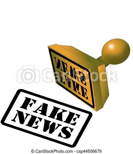 Fake News rubber stamp - csp44506679