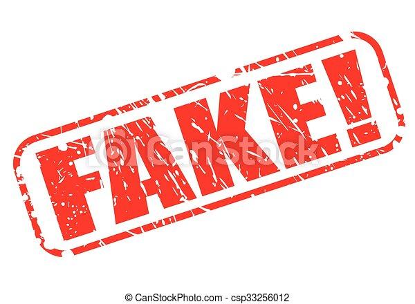 FAKE red stamp text - csp33256012