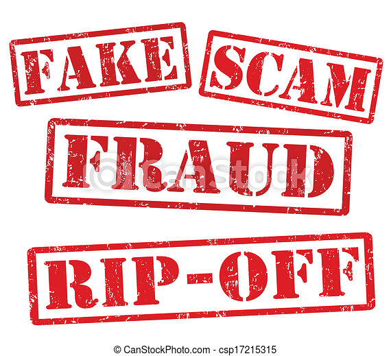 Fake, Scam, Fraud, Rip off stamps - csp17215315
