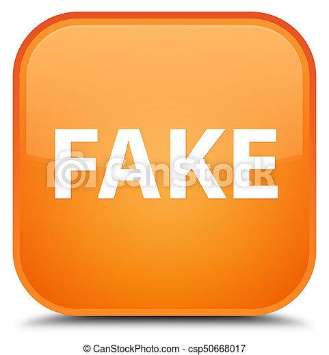 Fake special orange square button - csp50668017