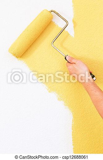 fal, festmény - csp12688061