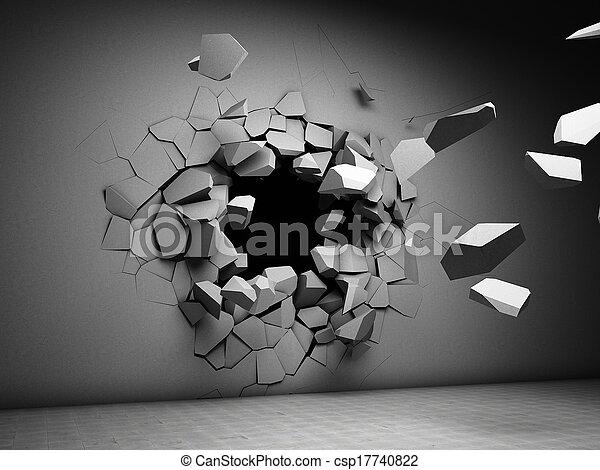 fal, pusztítás - csp17740822