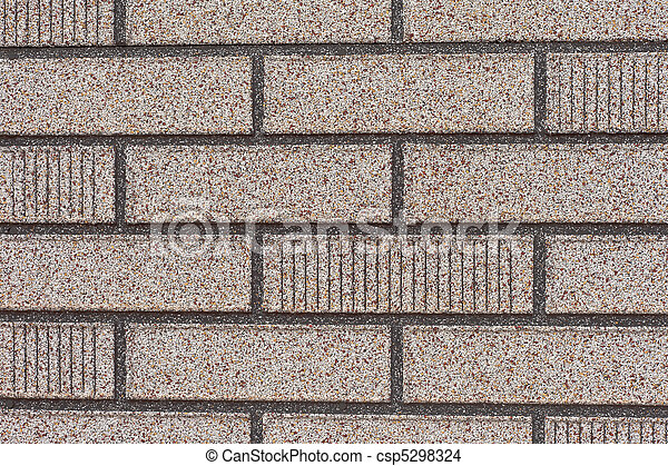 fal, tégla, hamisít, mellékvágány, szürke - csp5298324