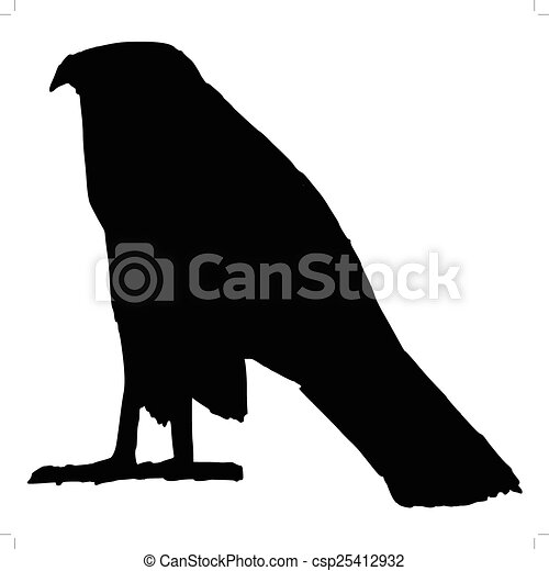 Silhouette Of Falcon Ancient Egyptian Symbol