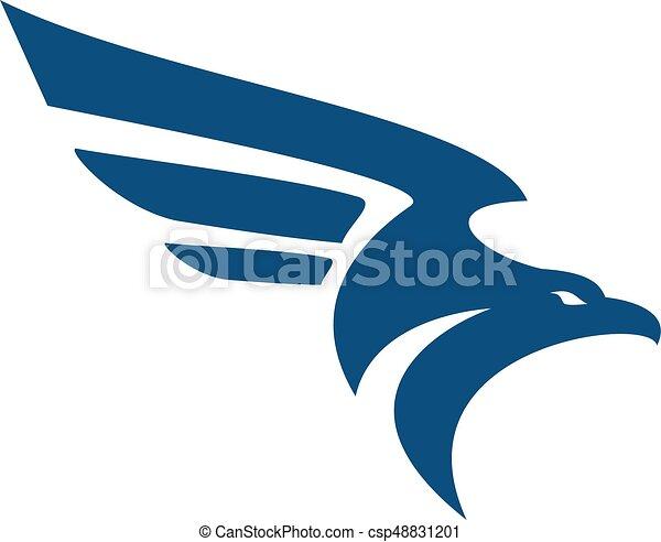 Falcon bird logo abstract design template. Flying eagle ...