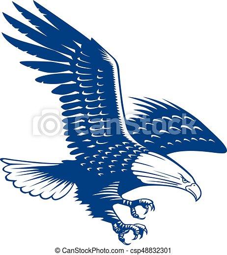 Falcon bird logo abstract design vector template. Flying ...