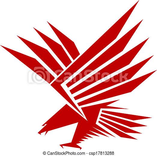 Falcon mascot - csp17813288
