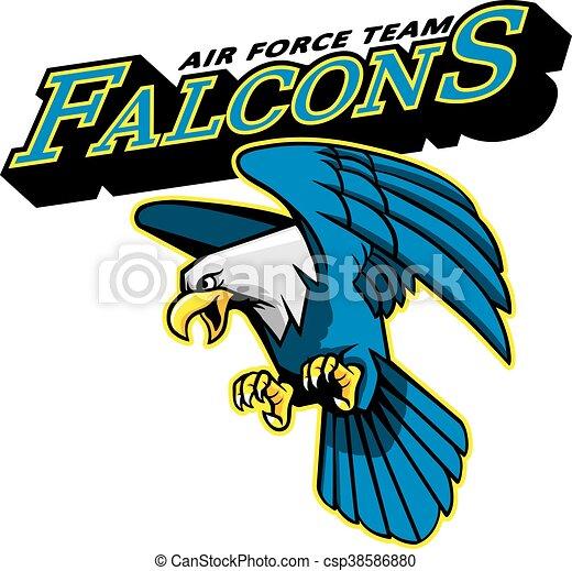 Falcons Air Force Team Mascot - csp38586880