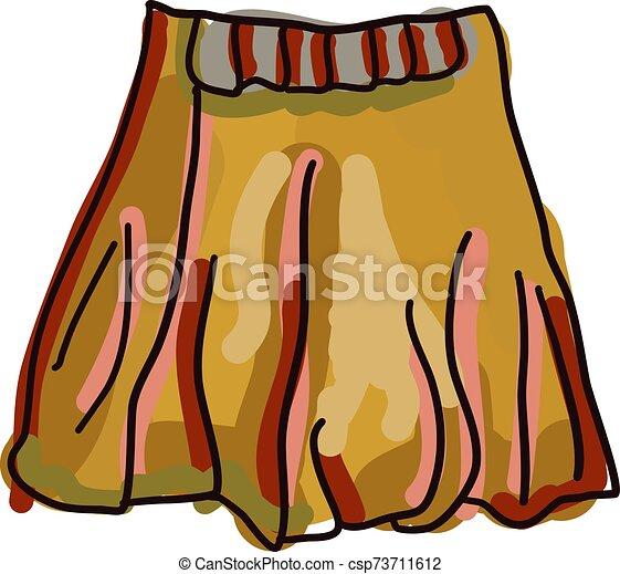 falda, blanco, naranja, fondo., vector, ilustración - csp73711612
