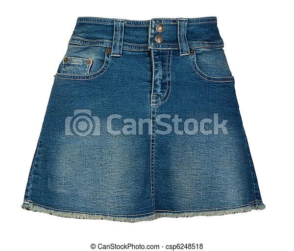 falda mahón, mujeres - csp6248518