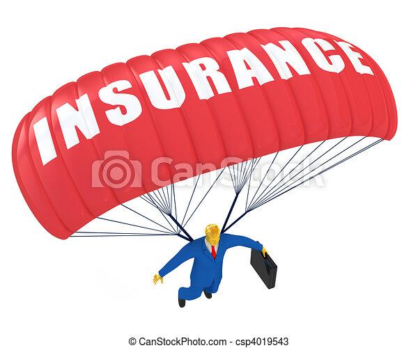 faldskærm, forsikring - csp4019543