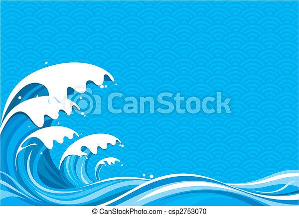 fale przybrzeżne, graficzny - csp2753070