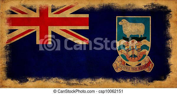 Falkland islands grunge flag - csp10062151