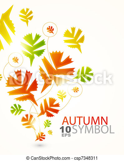 Fall abstract background - csp7348311