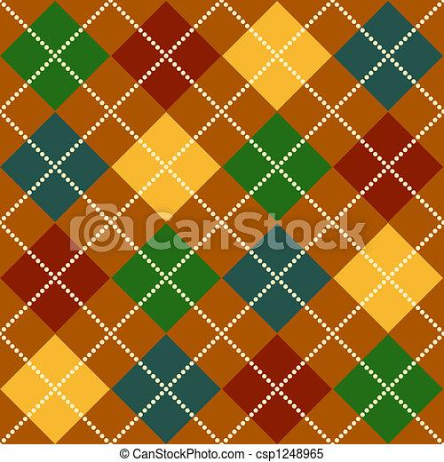 Fall Argyle Pattern - csp1248965