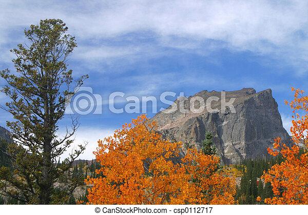 Fall at Hallet Peak - csp0112717