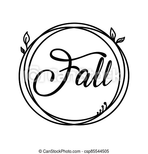 Fall autumn and harvest label circle stamp - csp85544505