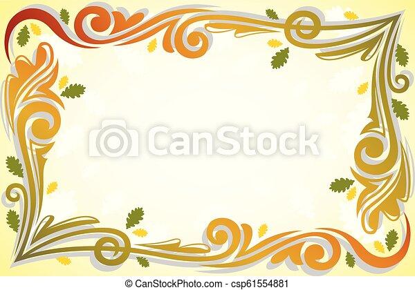 Fall Autumn Background Illustration - csp61554881