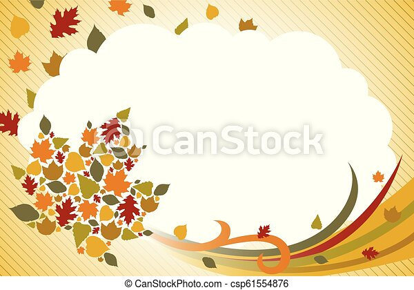 Fall Autumn Background Illustration - csp61554876