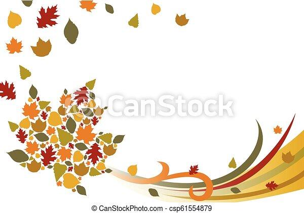 Fall Autumn Background Illustration - csp61554879