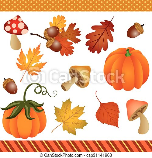 Fall Autumn Clipart Digital - csp31141963