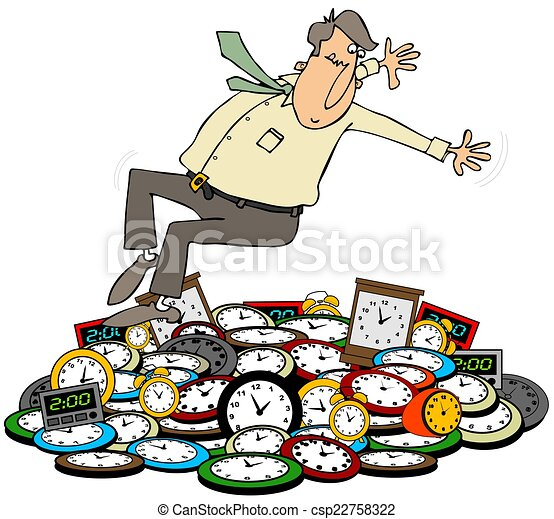 fall back this illustration depicts a man falling back onto clocks rh canstockphoto com time change 2018 clipart time change clip art 2018