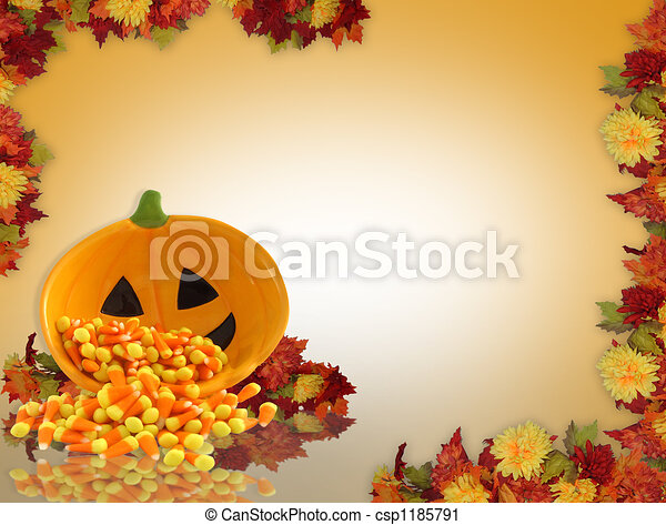 Fall background border - csp1185791
