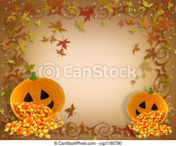 Fall background border - csp1185790