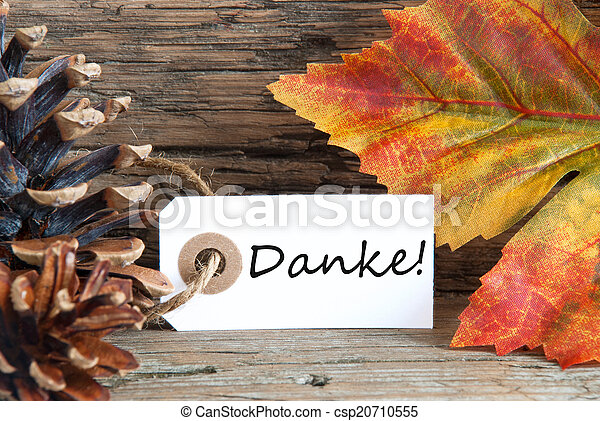 Fall Background with Danke - csp20710555