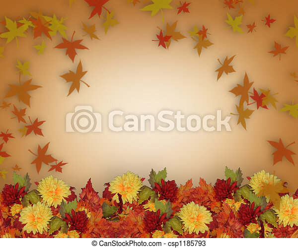 Fall Border Template - csp1185793