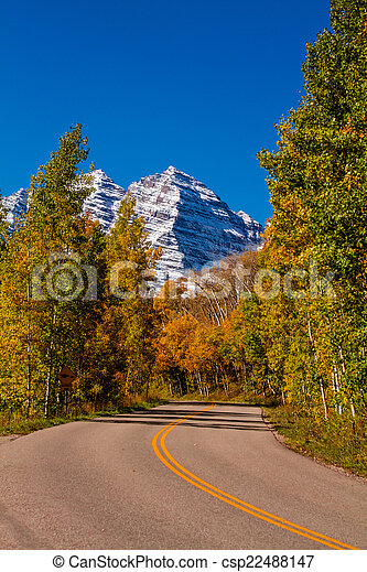 Fall Color in Aspen Colorado - csp22488147